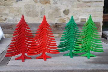 Albero di NAtale in legno ALBERTINO colorati