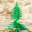 albero di natale in legno ALBERTINO verde aperto
