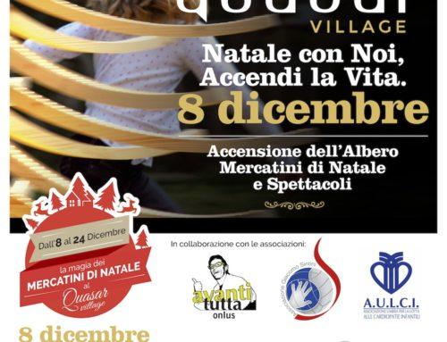 Il nostro albero di Natale in legno ALBERT scelto come decorazione natalizia del QUASAR Village Perugia!