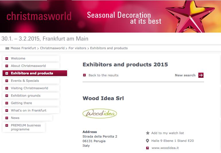 Albero in legno ALBERT alla fiera Christmasworld a Francoforte!