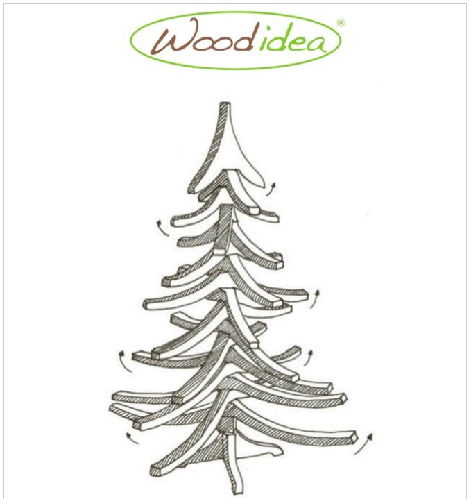 Catalogo albero di Natale in legno artigianale