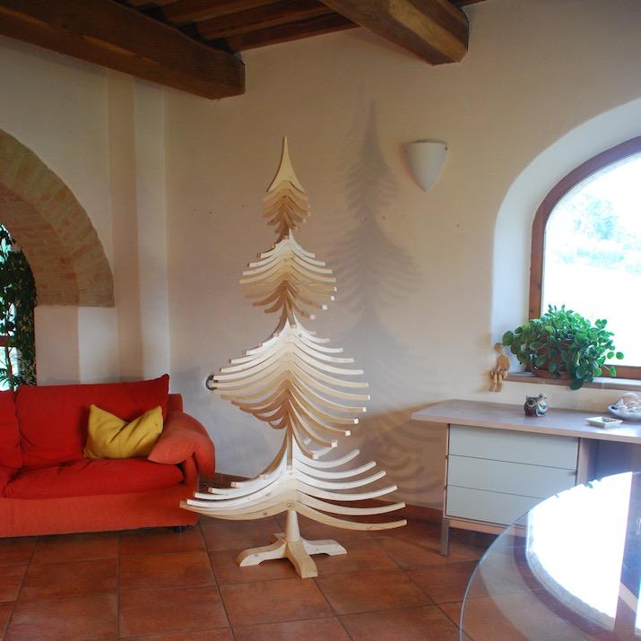 Albero Di Natale 50 Cm.Albero Di Natale In Legno Albert