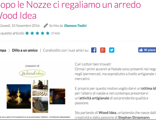 WOODIDEA sul blog di INSIEMEONLINE.IT!